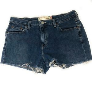 Levi's 515 distressed cut off shorts